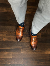 Load image into Gallery viewer, Salvatore Cap Toe Oxford - Cognac - Vikk & Co.