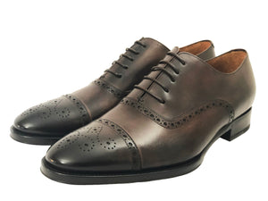 Salvatore Cap Toe Oxford - Marrone - Vikk & Co.