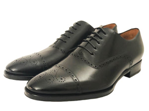 Salvatore Cap Toe Oxford - Nero - Vikk & Co.