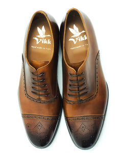 Salvatore Cap Toe Oxford - Cognac - Vikk & Co.