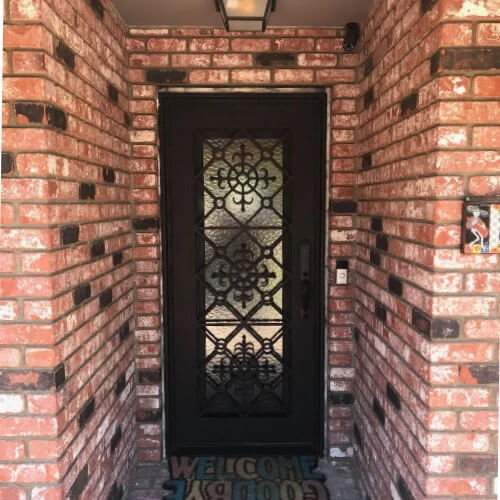 San Francisco Single Iron Door with Flat Top On Clearance
