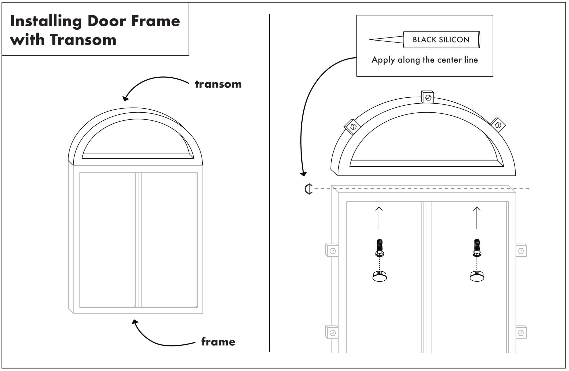 Installing Door Frame with Transom