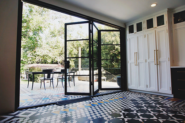 Air 4 Double Iron Bifold Patio Doors With Flat Top – Pinky's Iron ...