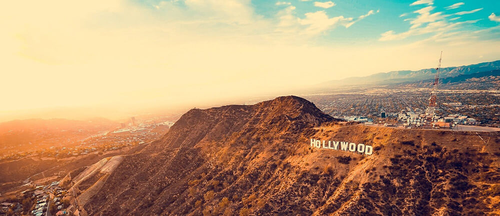 Hollywood Sign during Sunset