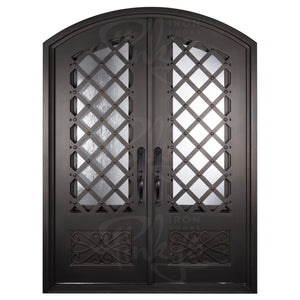 Double Iron Door for Front with Diamonds from Pinky's Iron Doors