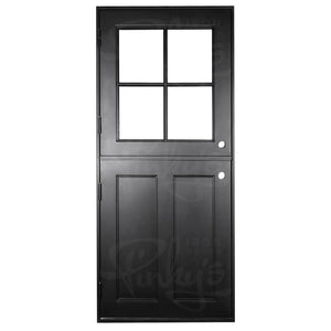 Air Dutch w/ Fixed Glass - Single Flat - Pinky's Iron Doors