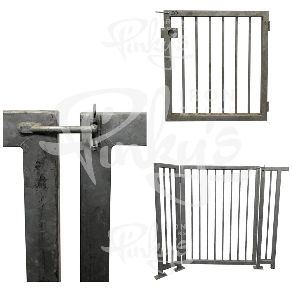 437.95' Iron Fence Bundle - Hot Dipped Galvanized | Clearance - Pinky's Iron Doors