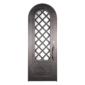 Queensway Wine Cellar w/ Handgrip - Single Full Arch - No Threshold - Pinky's Iron Doors