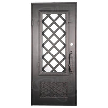 Load image into Gallery viewer, Queensway Wine Cellar w/ Handgrip - Single Flat w/Threshold - Pinky's Iron Doors