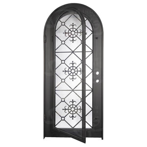 San Francisco Wine Cellar - Single Full Arch - No Threshold - Pinky's Iron Doors