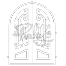 Load image into Gallery viewer, Piano - Double Full Arch - Pinky's Iron Doors