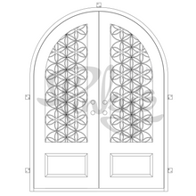 Load image into Gallery viewer, Woodstock - Double Full Arch | Special OrderIron Doors - Pinky's Iron Doors
