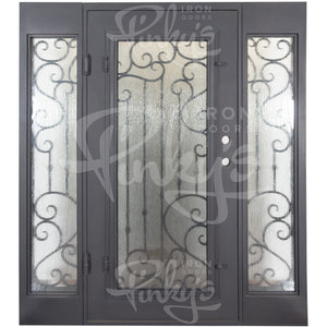 Paris Thermally Broken - w/ Sidelights Flat Top | Special Order - Pinky's Iron Doors