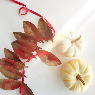 A Simple Way to Bring Gratitude Into Your Home This Season - DIY Gratitude Garland