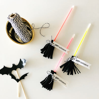 DIY Glowstick Brooms - Trick or Treat?