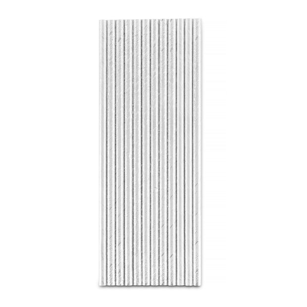Party Paper Straw - Silver Foil