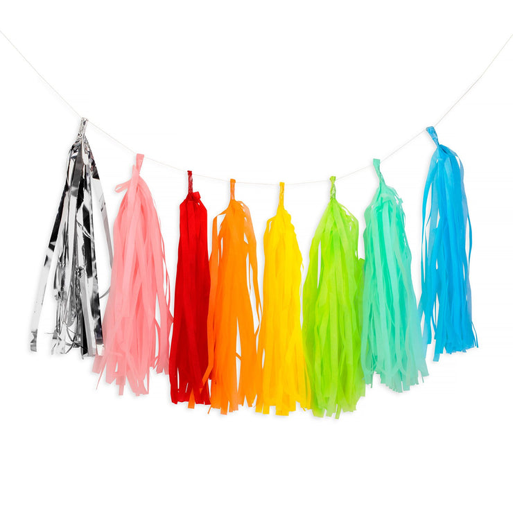 Party Garland - Rainbow Color Tassel