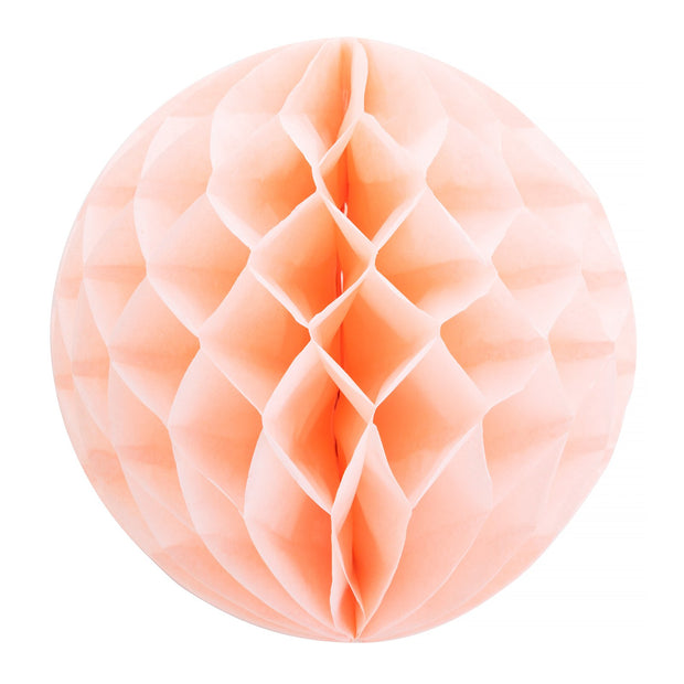 "Party Paper Decor - 12"" Honeycomb Lantern - Peach"