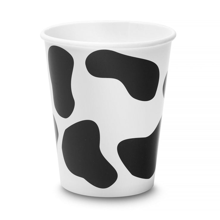 Party Paper Cup - Holstein Cow Print