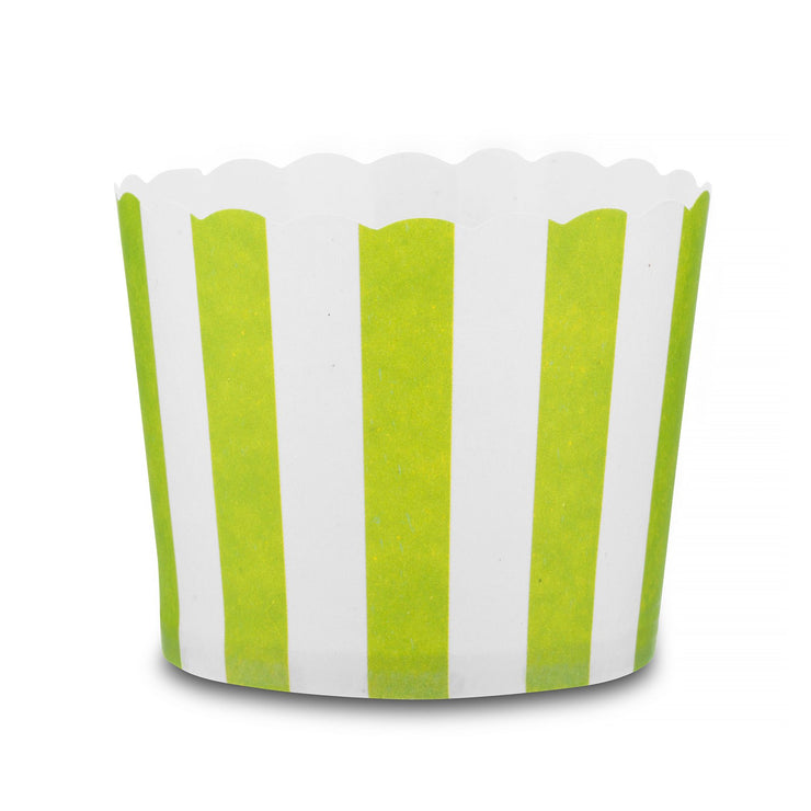 Party Cup - Snack Baking Cup - Lime Stripe