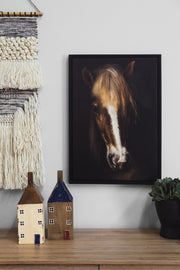 Wall Art - Farmhouse Horse Framed Canvas