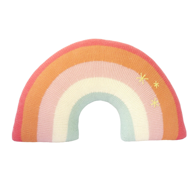 Decorative Throw Pillow - Rainbow  Pink