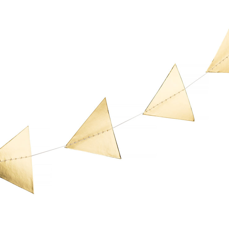 Party Garland - Paper Gold Geometric Triangle