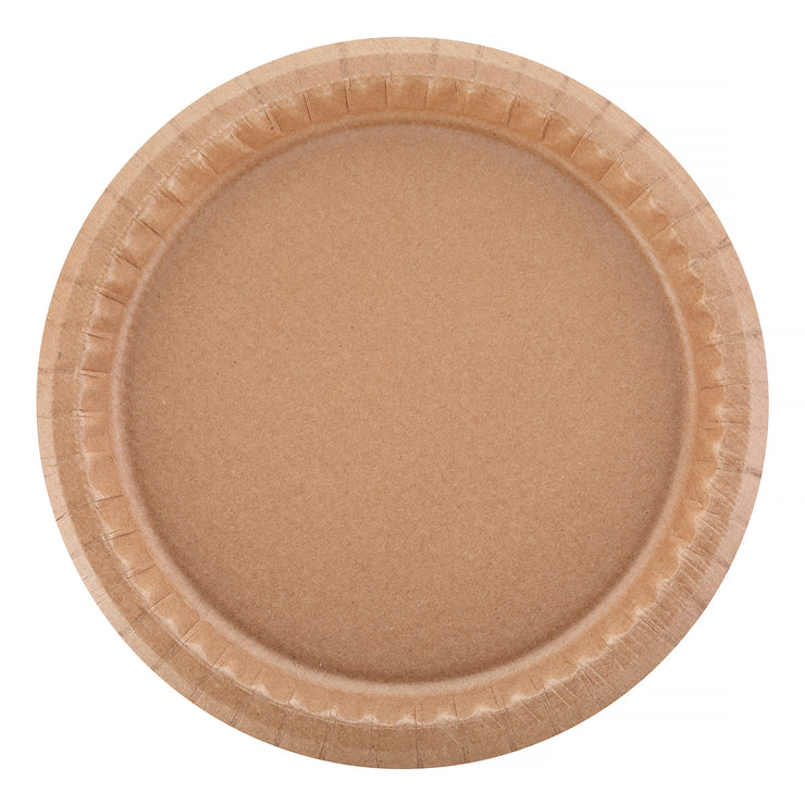 Party Plate - Kraft - 9''