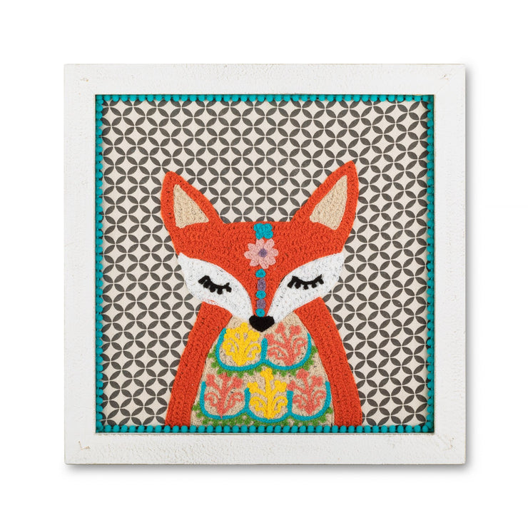 Wall Art - Fox Embroidered Framed