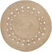 "36"" Round Decorative Jute Rug"