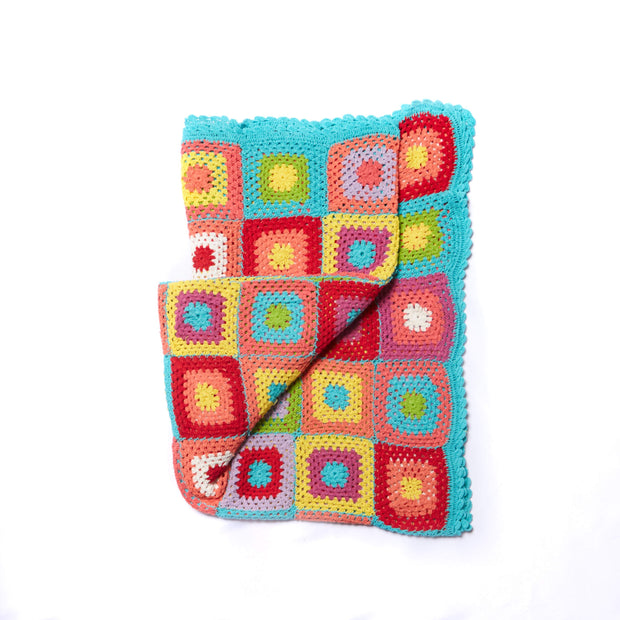 Decorative Throw Blanket - Cotton Crochet Squares