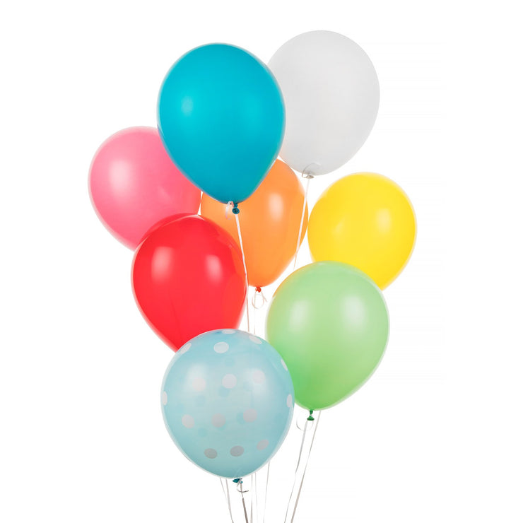 Party Balloon - Multi Color Bouquet, 8 Pack