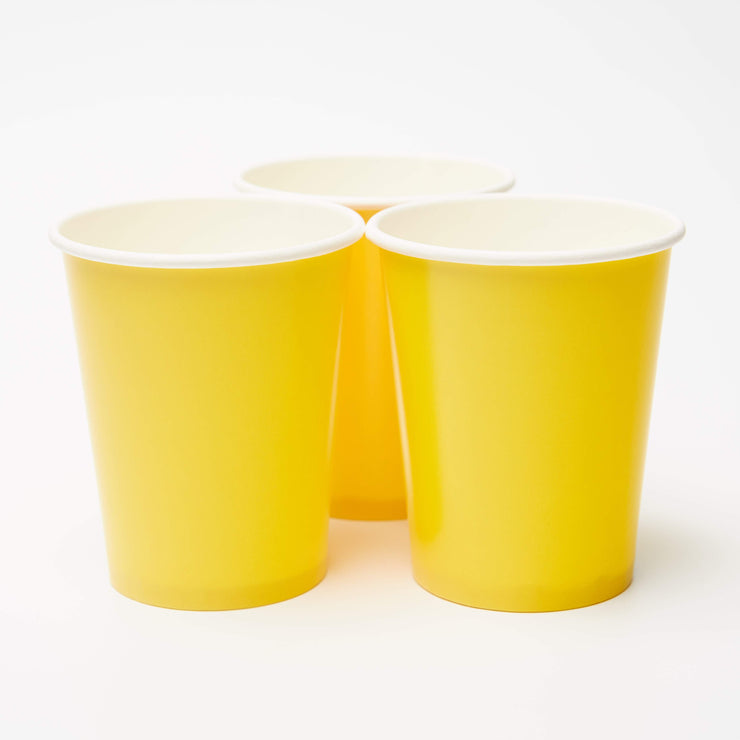 Yellow Paper Cup, 8 pack