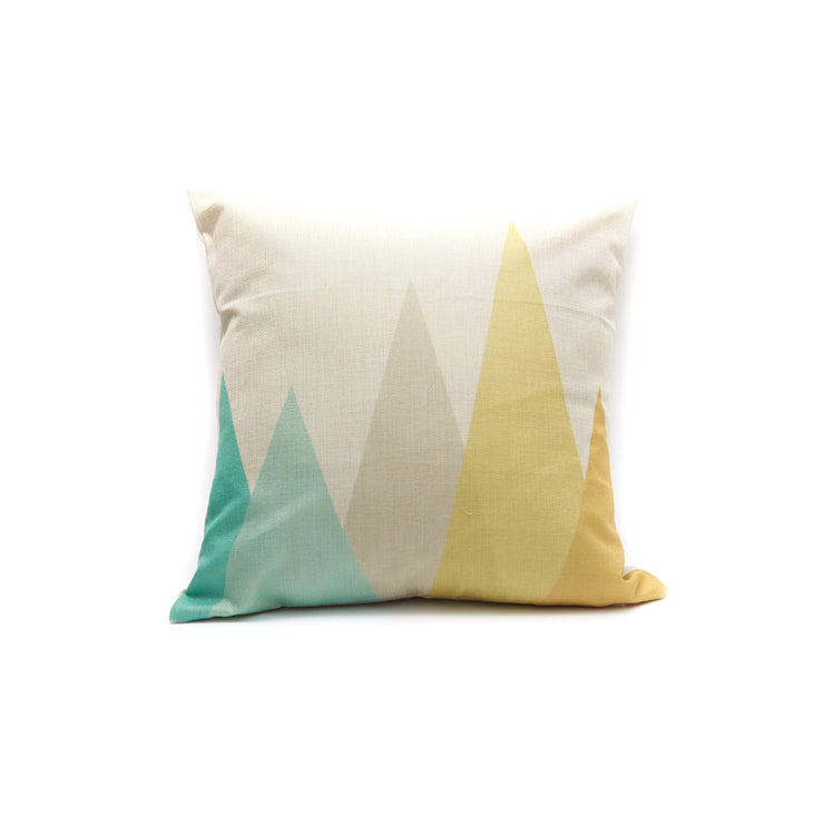 Geometric Tall Triangles Pillow