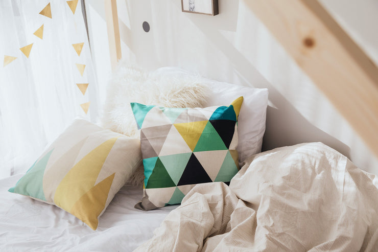 Decorative Throw Pillow - Geometric All Over Triangles