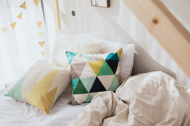 Decorative Throw Pillow - Geometric Tall Triangles
