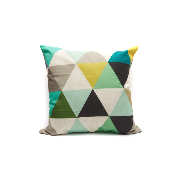Geometric All Over Triangles Pillow