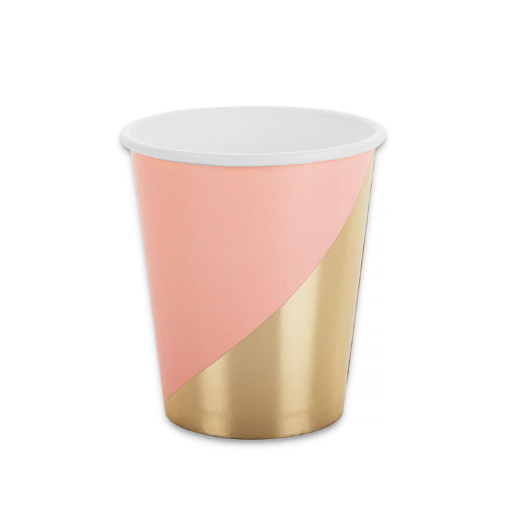Party Paper Cup - Blush and Gold