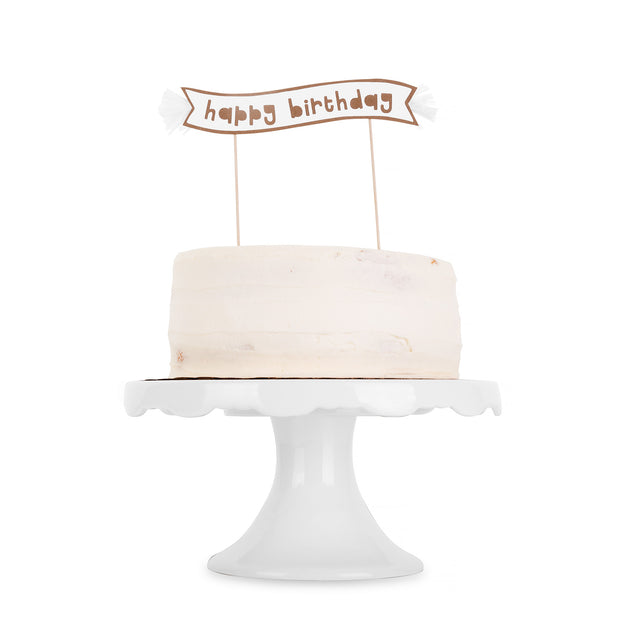 Cake Topper Set - Kraft Paper Happy Birthday
