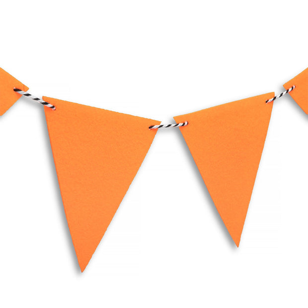 Party Garland - DIY Orange Felt Bunting