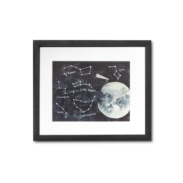 Wall Art - Watercolor Constellations Framed