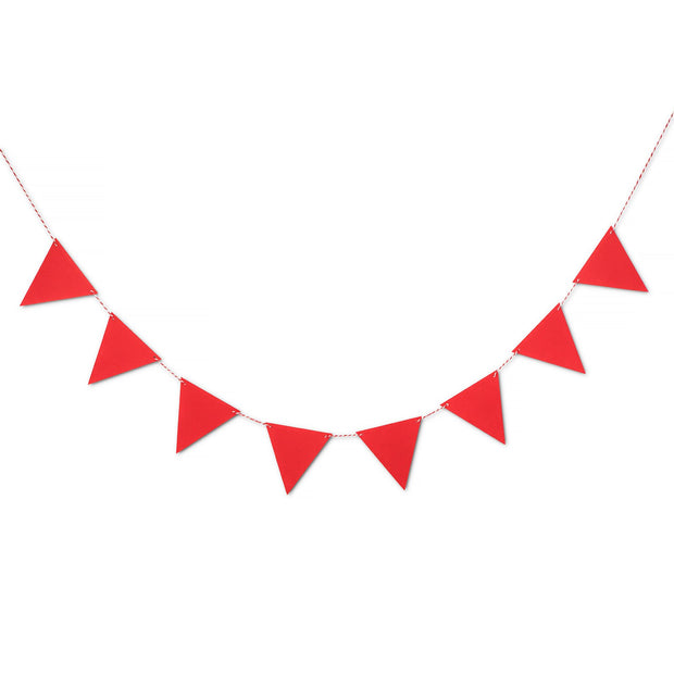 Party Garland - Red Felt Bunting