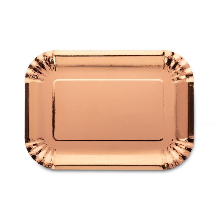 Party Plate - Rose Gold - 7.5''x10.5''
