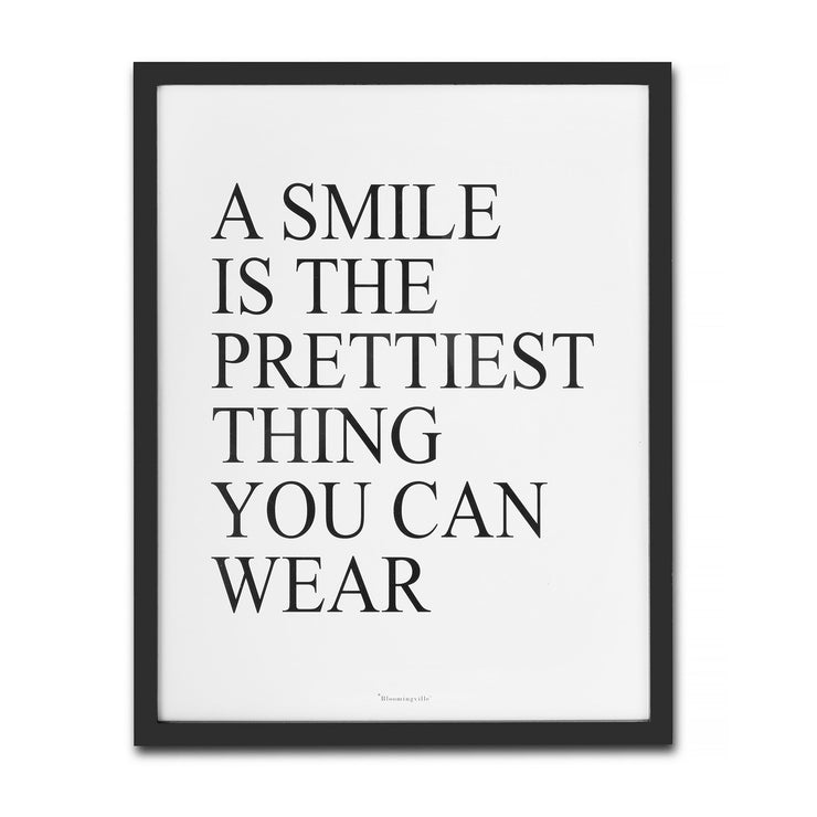 Wall Art - Smile Quote Framed