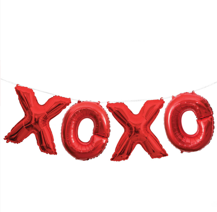 Party Balloon - XOXO Mylar Balloon Set - Red