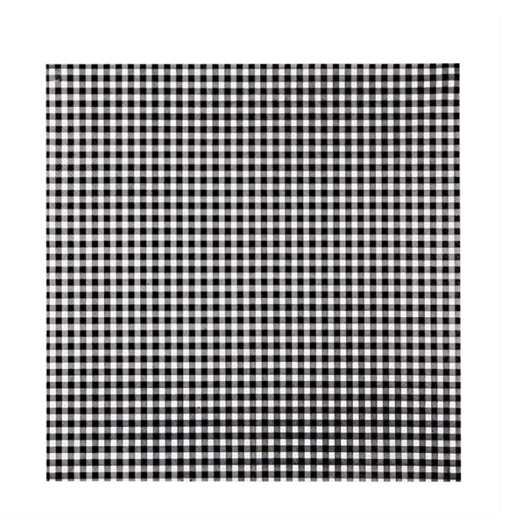 Party Napkin - Black Picnic Checker