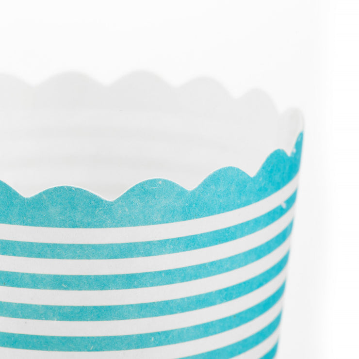 Party Cup - Snack Baking Cup - Teal Stripe