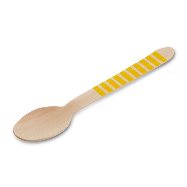 Yellow Striped Wooden Spoon