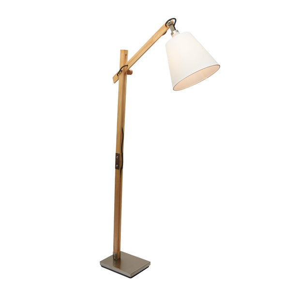 Natural Wood Floor Lamp
