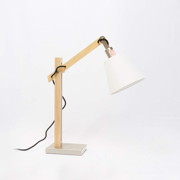 Natural Wood Table Lamp